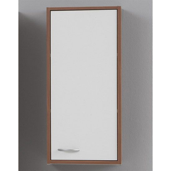 bathroom wall cabinet in plumtree and white with 1 door - 6571 huge range of bathroom cabinets with free UK delivery from furniture in fashion.  sc 1 st  Pinterest & Stunning bathroom cabinet with 1 door in white u2022 Wall mounted ...