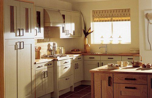 Sage painted fitted kitchen from Somerset Kitchen, Somerset