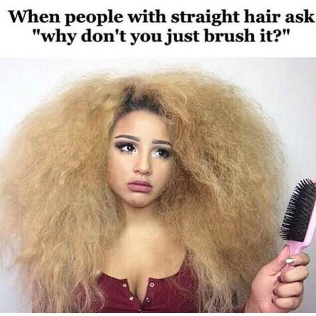 Simply Straight Brush On Natural Hair