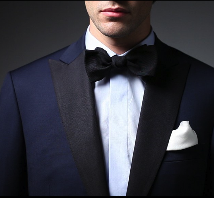Navy Tux with Black Accent | Bow Ties | Pinterest | Navy tux
