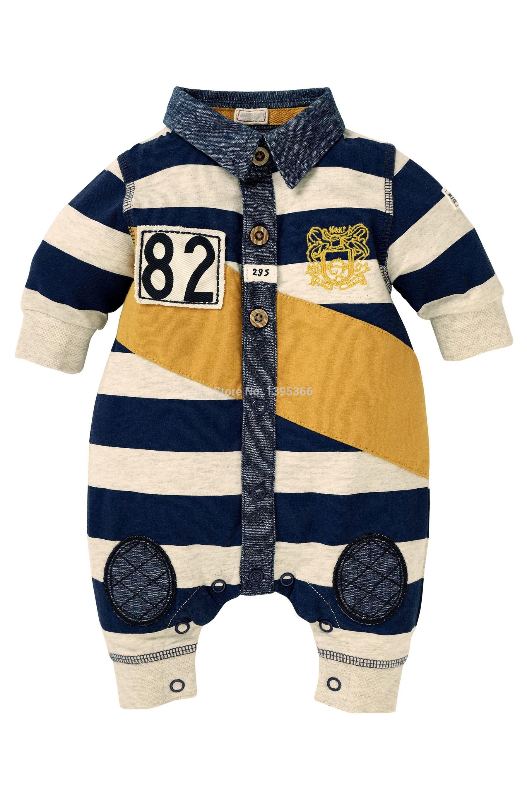 Newborn baby boy clothes next brand 100 cotton infant coveralls