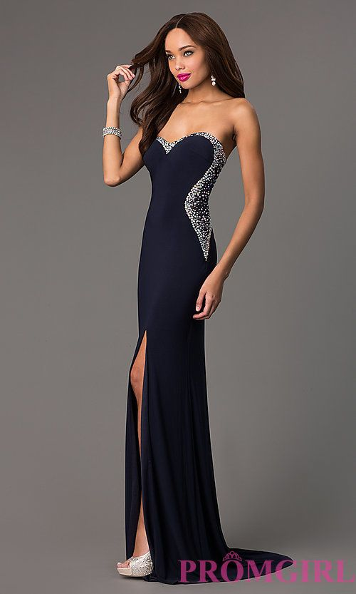 Gray Embellished Gown Side