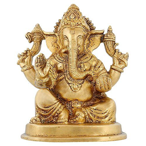 Hindusim In India Religious Décor Ganesh Statue Brass Hindu Temple Puja 4.5 inch ShalinIndia http://www.amazon.in/dp/B010M3IY66/ref=cm_sw_r_pi_dp_XsU3vb1FTATCF