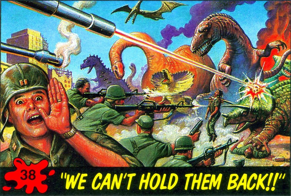 Dinosaurs attack card 38 in 2020 cards retro futurism