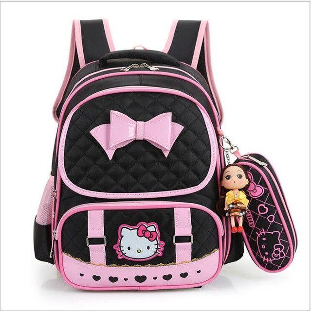 6a3e28b188 Hello Kitty Children School Bags For Girls Kids Schoolbag Cartoon Kids  School Backpacks Mochila Infantil 4 colors EWX