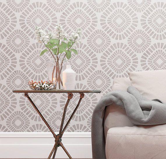 Decorative Wall Stencil - Geometric Pattern Stencil For Walls ...