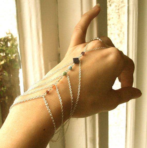 Cross slave bracelet Silver plated spiritual jewelry gifts hand bracelet Peace and Love hippie body jewellery statement ring bracelet