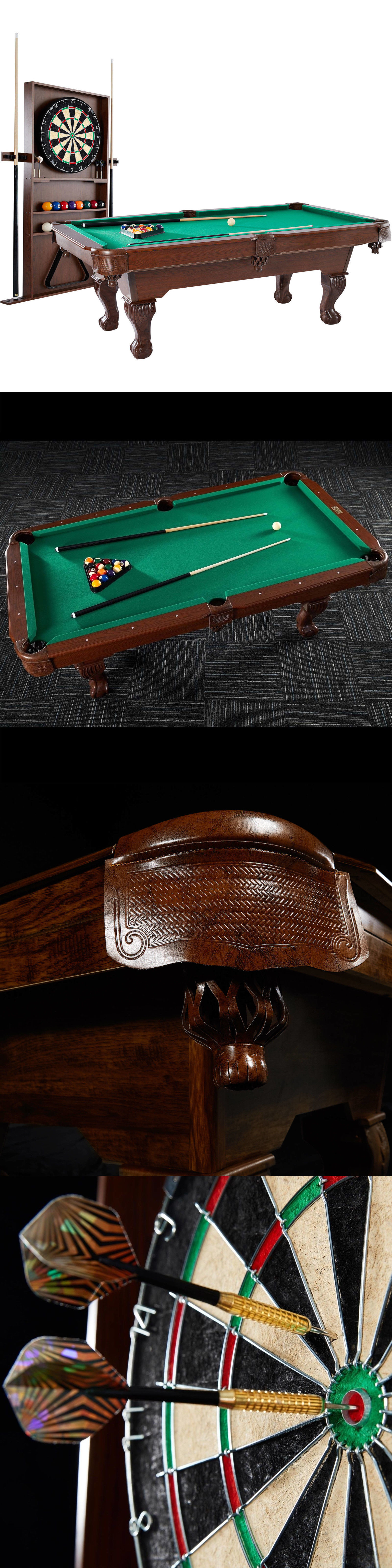 Tables 21213: New 7.5 Ft Wood Pool Table Ball And Claw Billiard Game Cue  Rack
