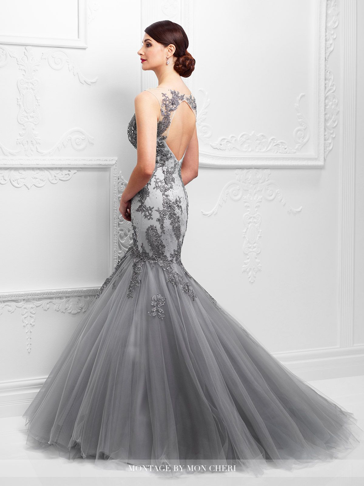 D lace mermaid mermaid gown and beaded lace