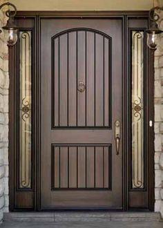 Dark Walnut Door Stain Google Search Front Door Entrance Fiberglass Entry Doors Entry Door With Sidelights
