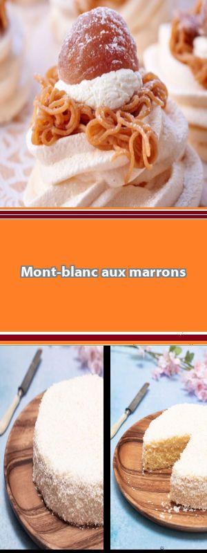 Mont-Blanc La bonne idée de cette recette ? La compotée cassis-mûres qui vient casser la sucrosité de la meringue et de la crème aux marrons et évite d'avoir un dessert trop sucré. #montblancrecette