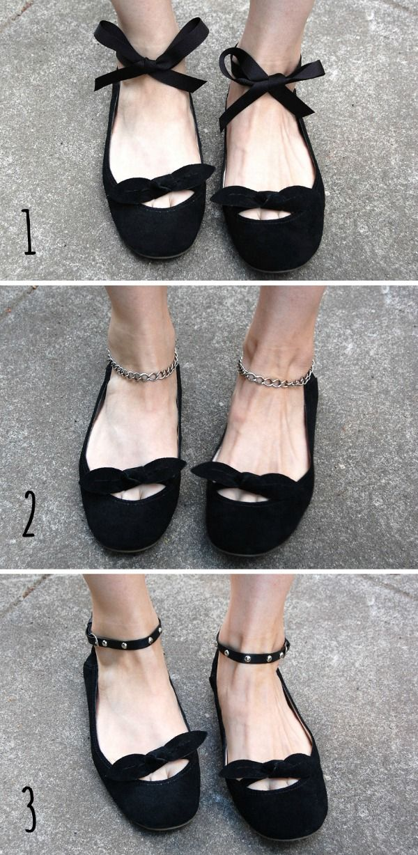 c5977763d8be Crafty Lady Abby  MULTI-TUTORIALS  Shoe Makeovers - Temporary Additions...  great site full of examples for inspiration for shoe add ons and  inspirations (I ...