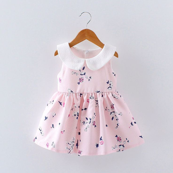 235a3166667d Toddler Infant Kids Baby Girls Floral Dress Princess Party Summer Casual  Dresses