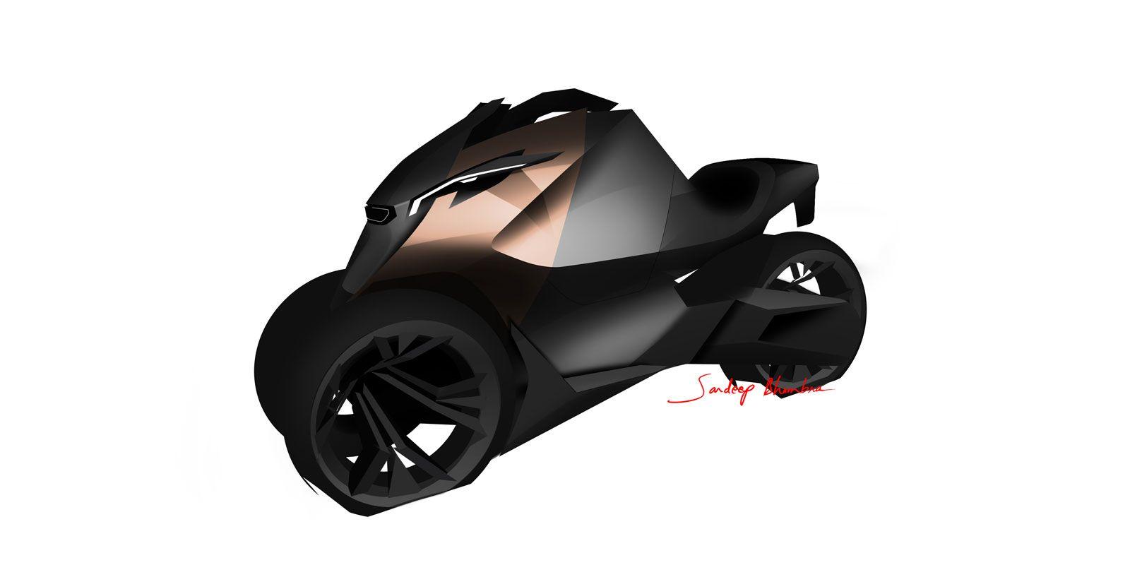 Peugeot Onyx Concept Scooter Design Sketch
