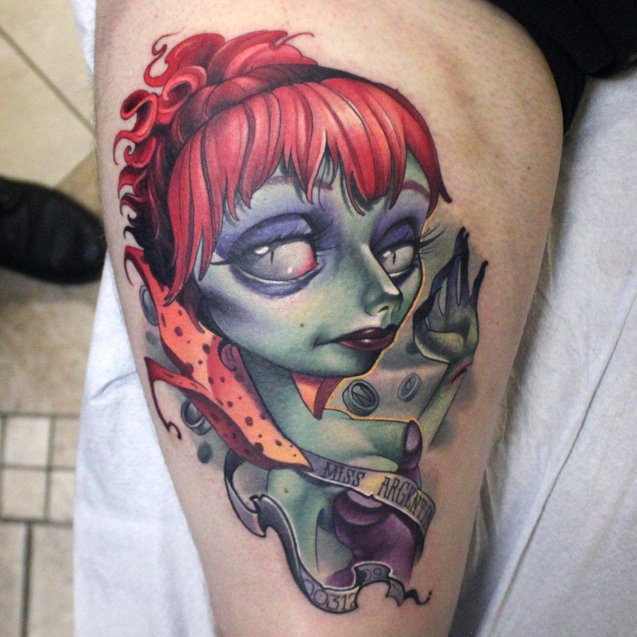 Kelly Doty Studio 13 Tattoos New School Tattoo - Miss Argentina from Beetlejuice