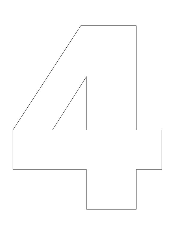 Number Pictures To Color Preschool Curriculum File Number 4 Coloring Pages