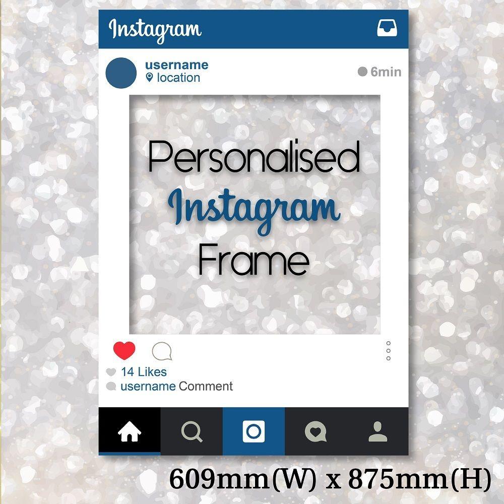 Personalized Instagram Frame - Medium size | Pinterest | Instagram ...