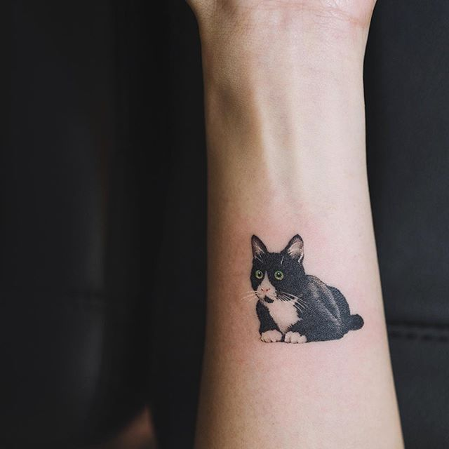 Image Result For Realistic Small Cat Tattoo Cute Cat Tattoo Cat Tattoo Designs Black Cat Tattoos