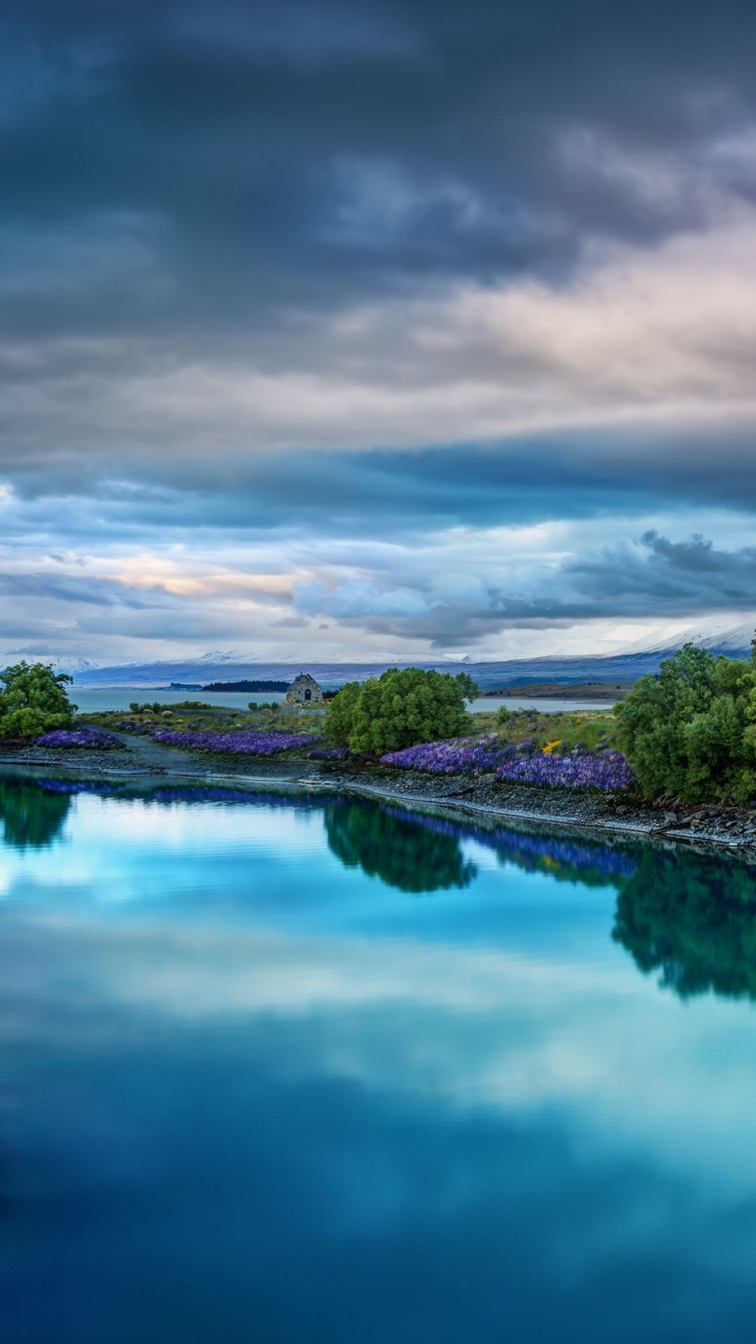 1080x1920 Wallpaper sky, nature, river, landscape