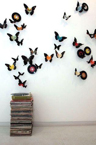 Inspiración: reutilizar discos de vinilo