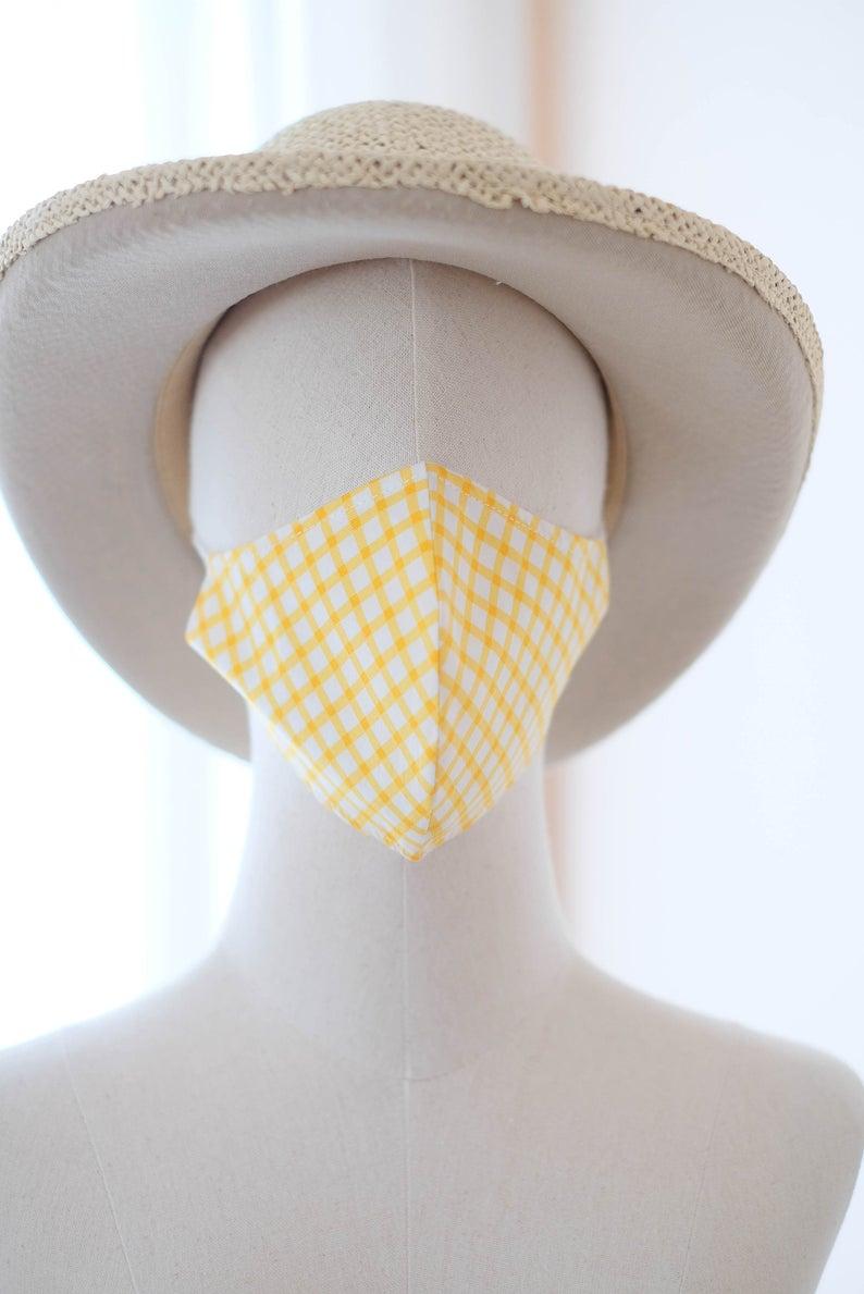 3-Layer Blue Face Mask (100% Cotton) - GRAZIE FILIPETI