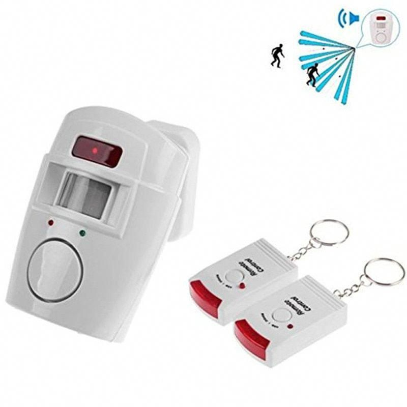 Wireless Remote Controlled Mini Alarm With Ir Infrared Motion Sensor Detector And 105db Loud Siren In 2020 Security Alarm Wireless Home Security Systems Home Security