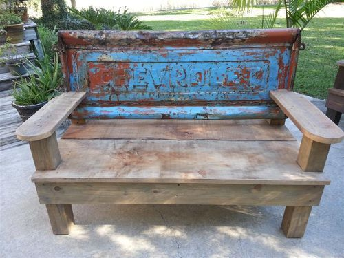 Vintage Tailgate Benches - by Skidog HomeRefurbers  home
