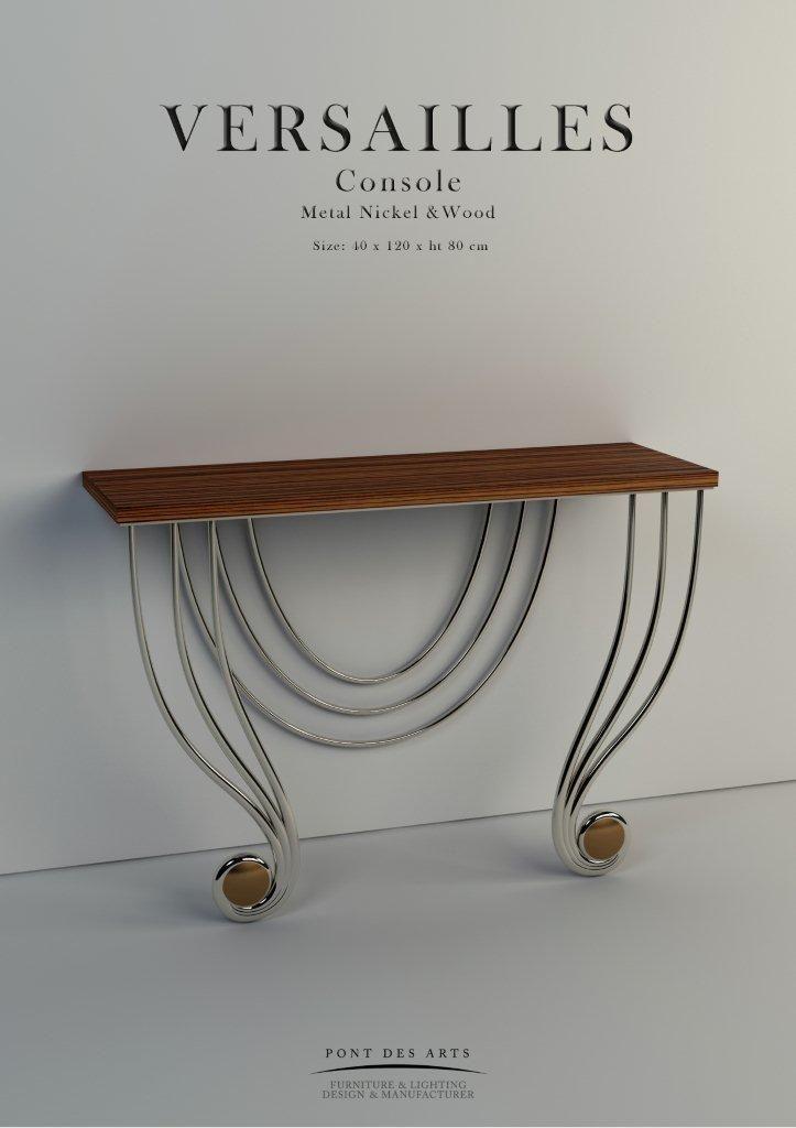 Versailles Consoles- Designer Monzer Hammoud - Pont des Arts Studio - Paris