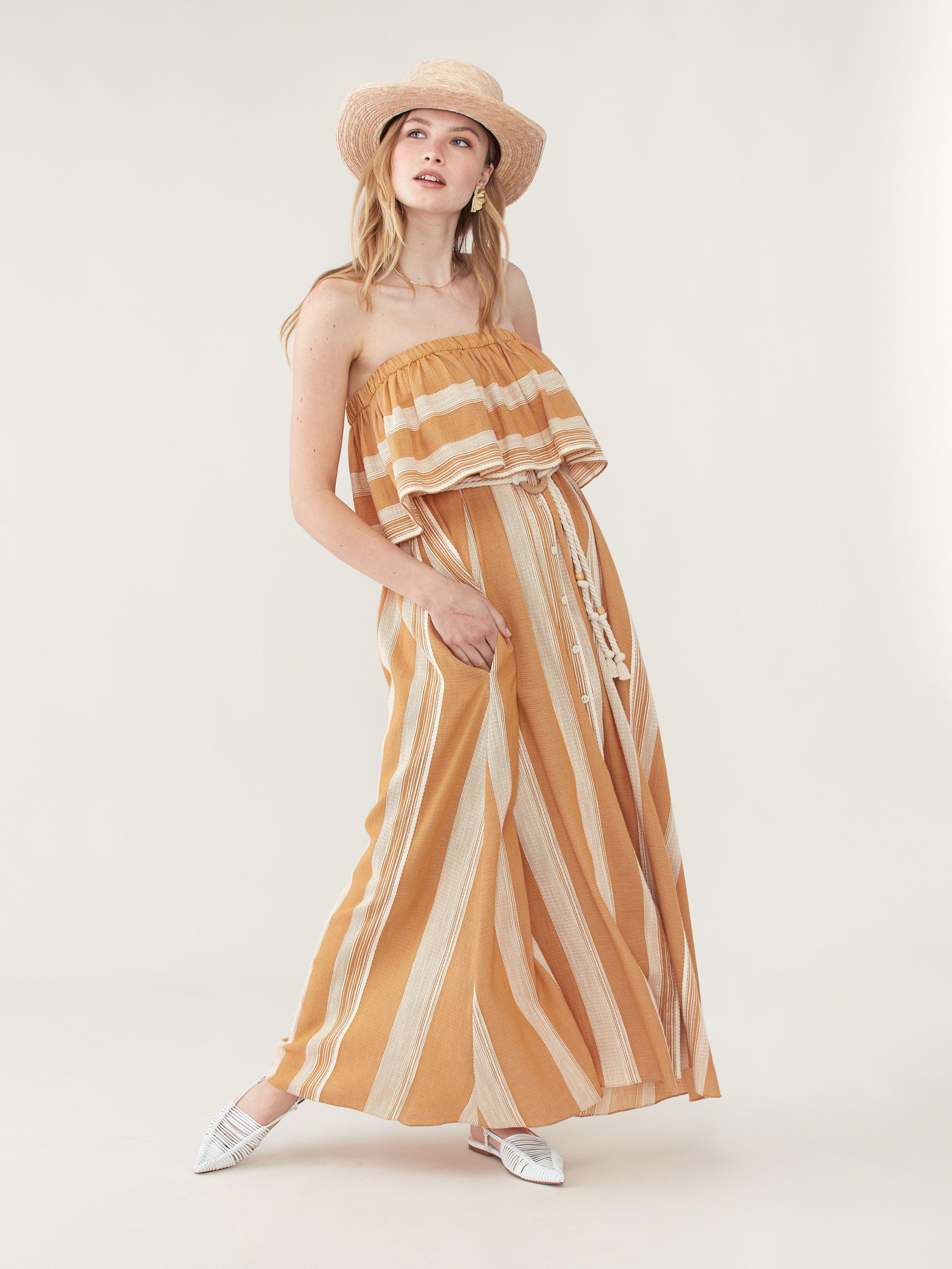 Derartu Strapless Ruffle Dress Strapless Ruffle Dress Ruffled Maxi Dress Ruffle Dress [ 4000 x 3000 Pixel ]