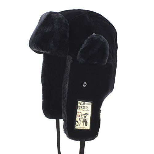 Mysuntown Heavyweight Winter Trooper Trapper Hat Ushanka Russian Hat with  Mini Pocket(Black Color)     Click image for more details. 5603f2041616