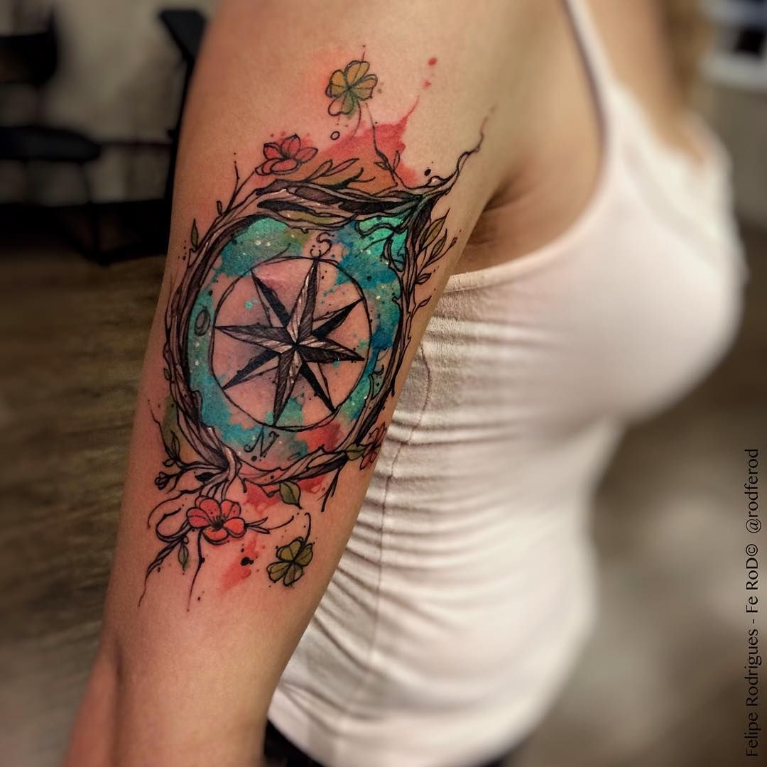 WindRose Studio TattooYou SP Watercolor compass