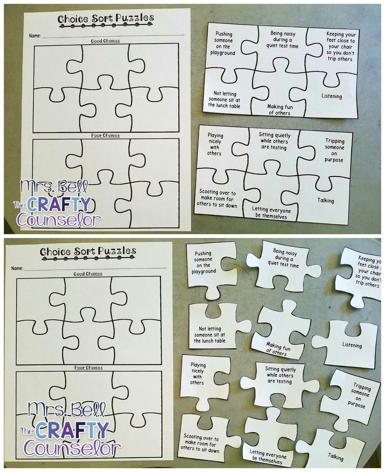 Good Choice Vs Poor Choice Puzzles