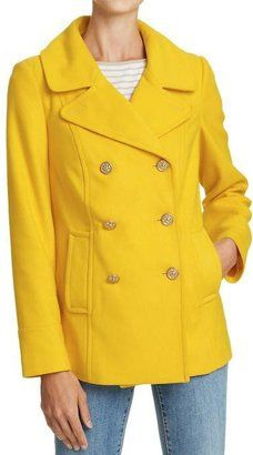 Old Navy Big Yellow Bus Classic Wool Blend Coat My Style Coat
