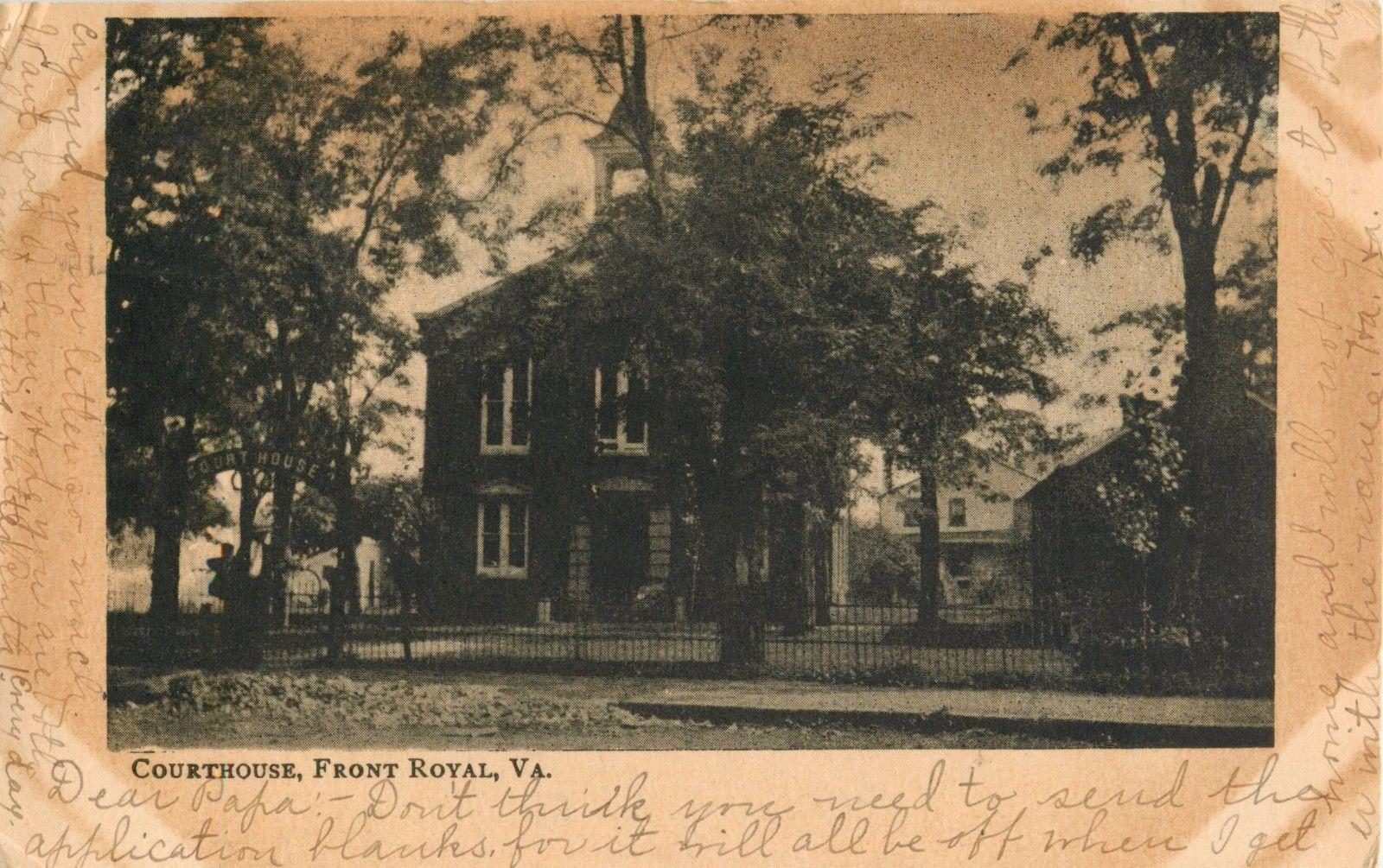 Front Royal, VirginiaWarren County Courthouse c1906 VA