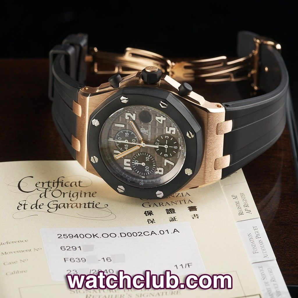 """AUDEMARS PIGUET Royal Oak Offshore """"Rose Gold"""" REF: 25940OK.OO.D002CA.01.A 