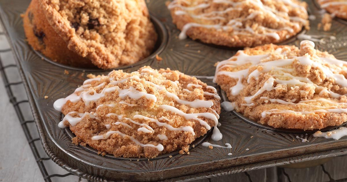 Glutenfree fruit muffins with streusel topping recipe