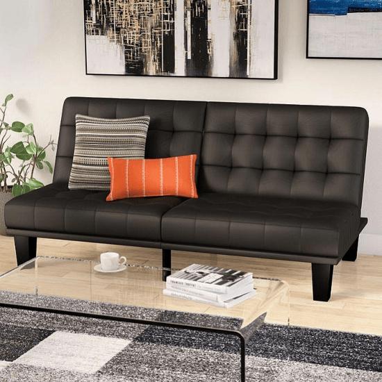 Haysi Futon Lounger Convertible Sofa In