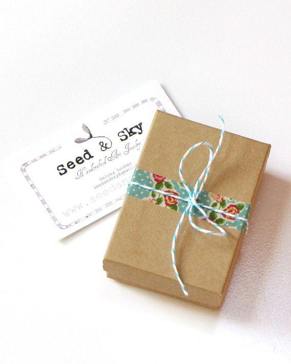 cute kraft box + washi tape   Packaging   Birthday gift ...