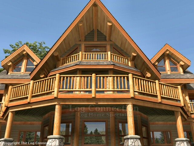 View Up From Lower Patio Wooden House Plans Log Homes House Styles