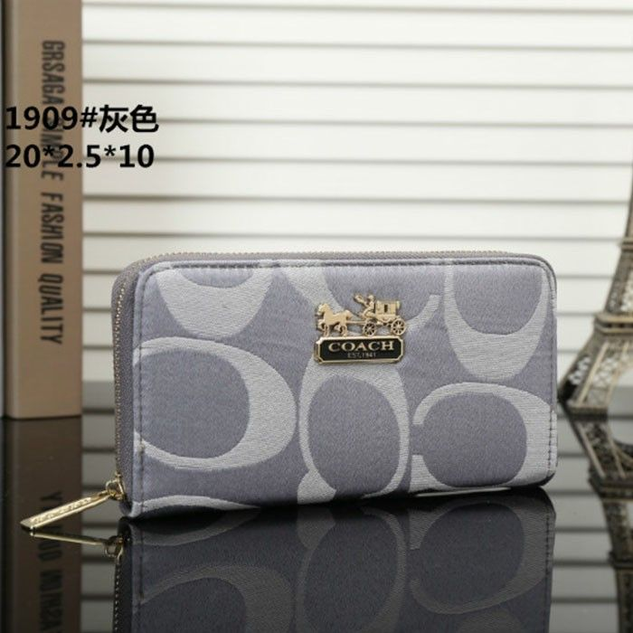 5150a5e37e Coach Logo Monogram LZ1909 Wallet In Grey