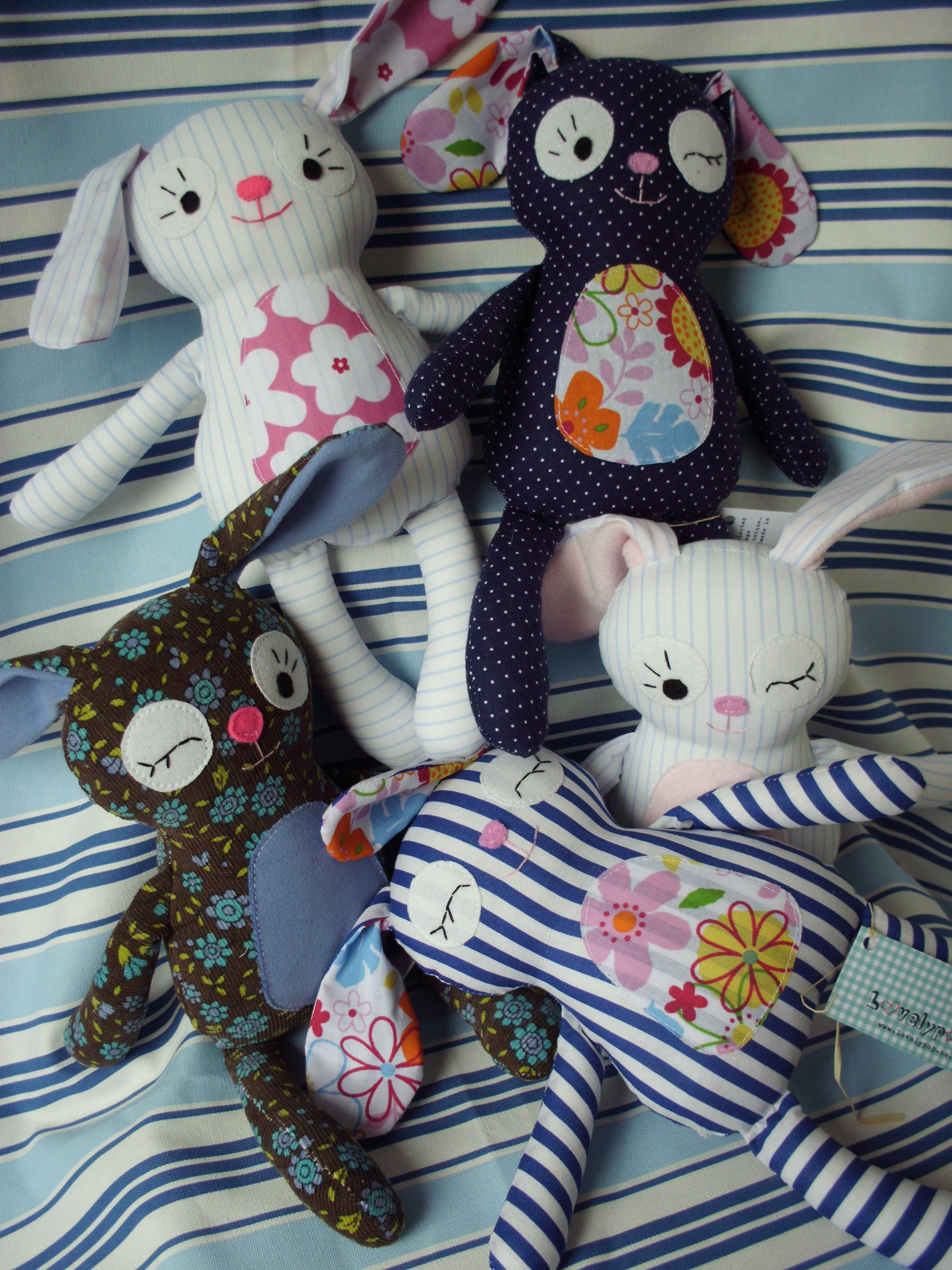 Easter Bunnies galore #rabbit #easter #bunny #toy #handmade