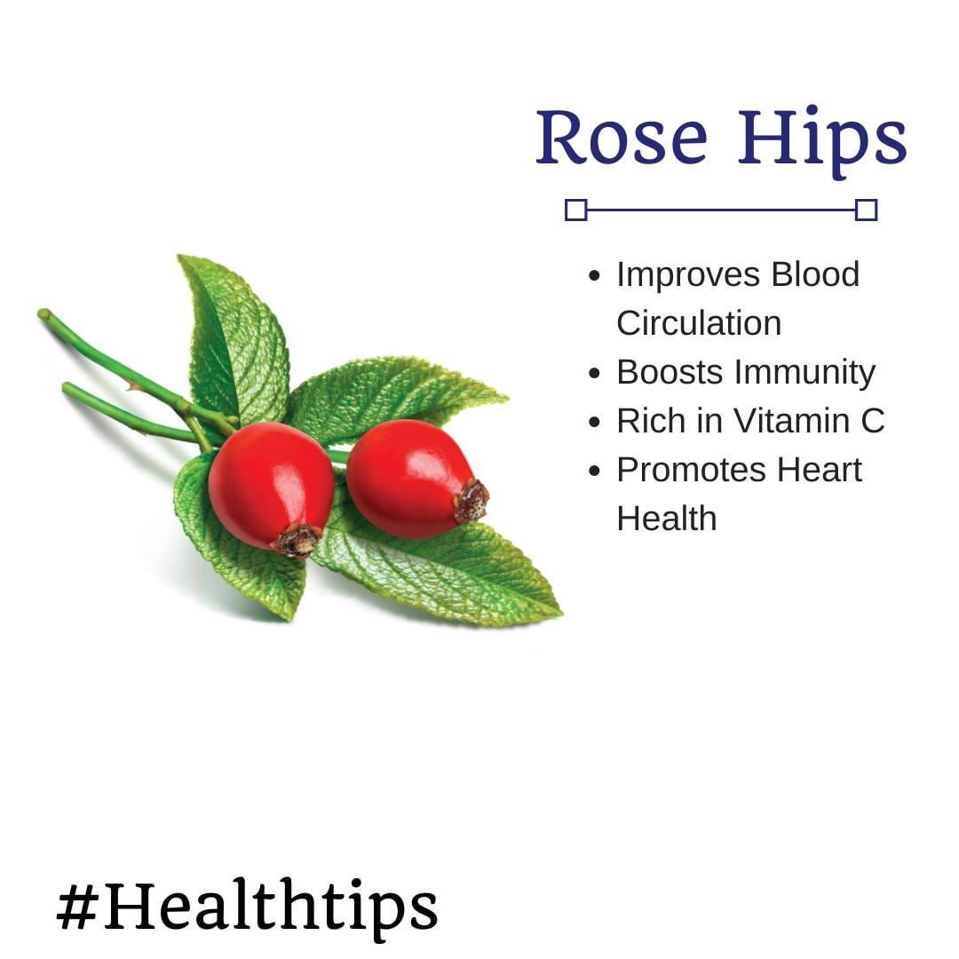 🌱 #Healthtips : Did you know rose hips promote heart health? And improves blood circulation.⠀ ⠀ Love...