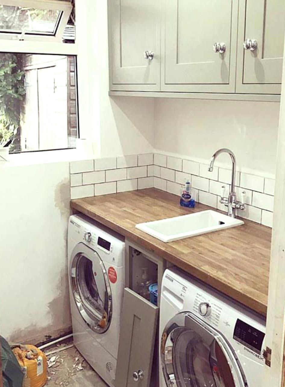 Small Sink In 2020 Small Laundry Sink Utility Room Sinks Tiny Laundry Rooms