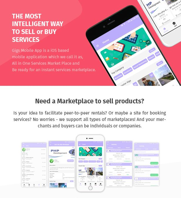 Gigs (Services Marketplace App) Fiverr & Freelance Clone