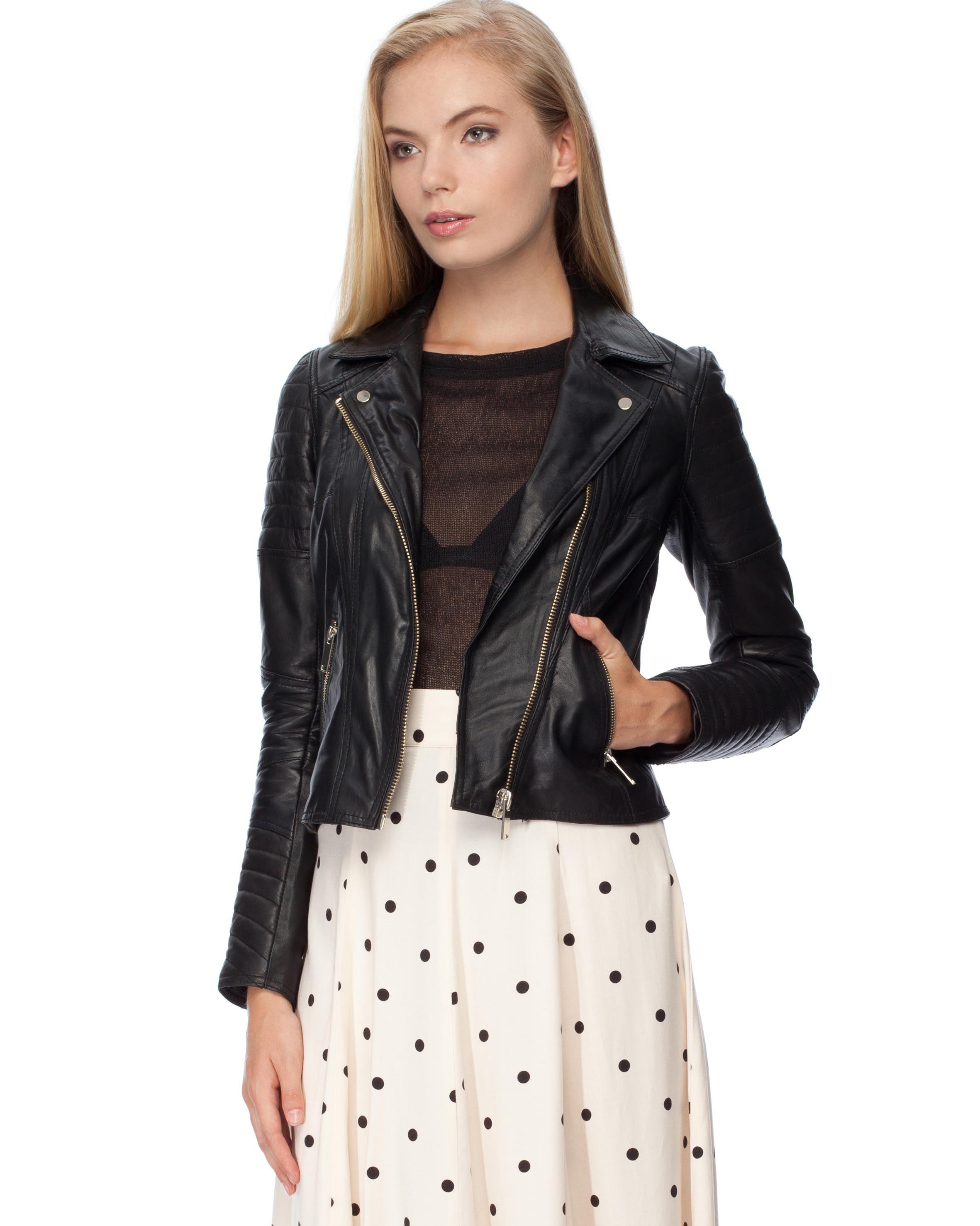 Leather jacket online australia - Leather Bradie Biker Jacket By River Island Online The Iconic Australia