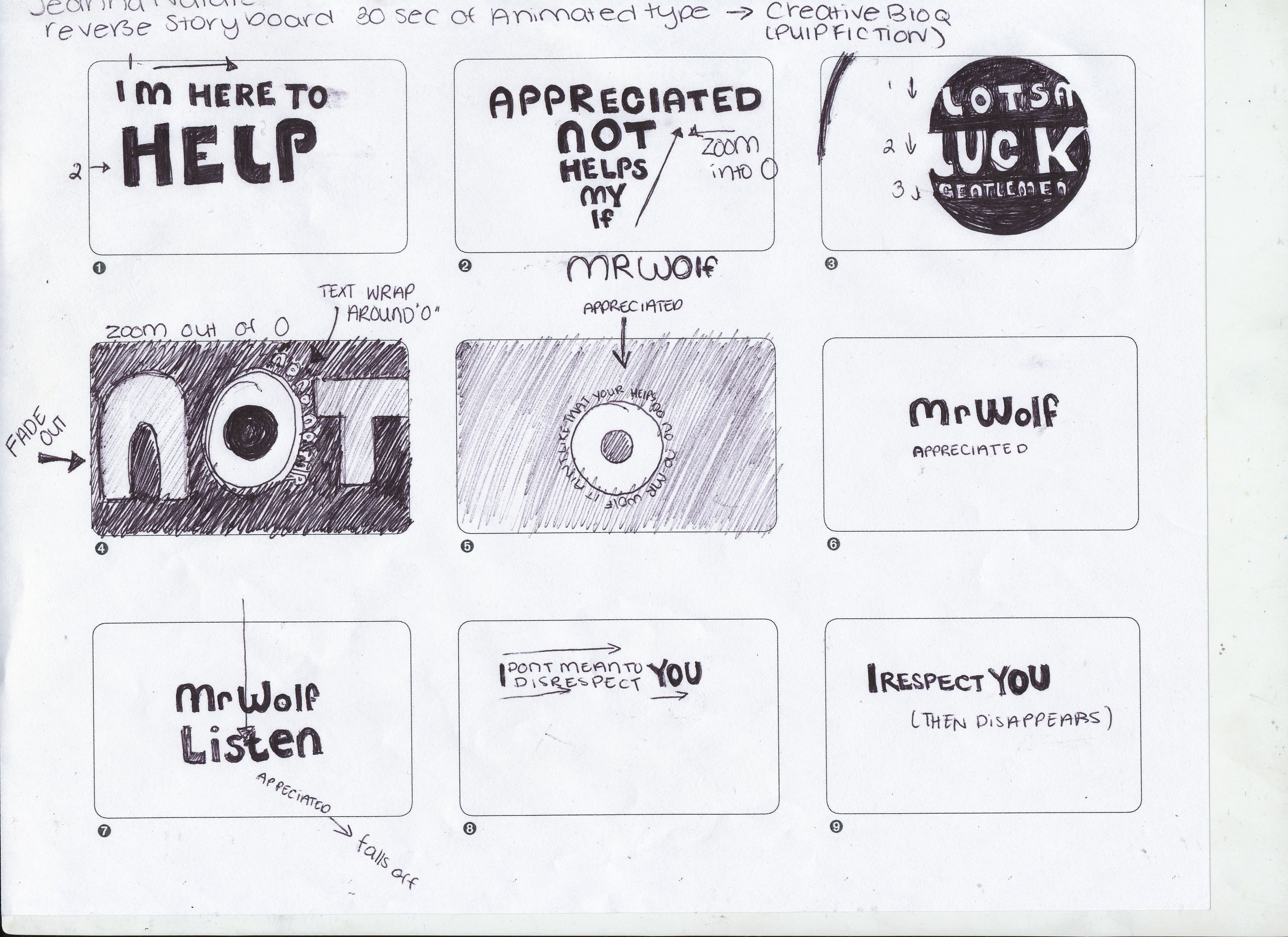 Examples Of Storyboards For Kinetic Typography