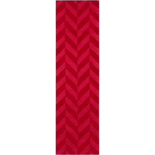 Central Park Carrie Red Runner: 2 Ft 3 In x 8 Ft Rug - (In Runner)
