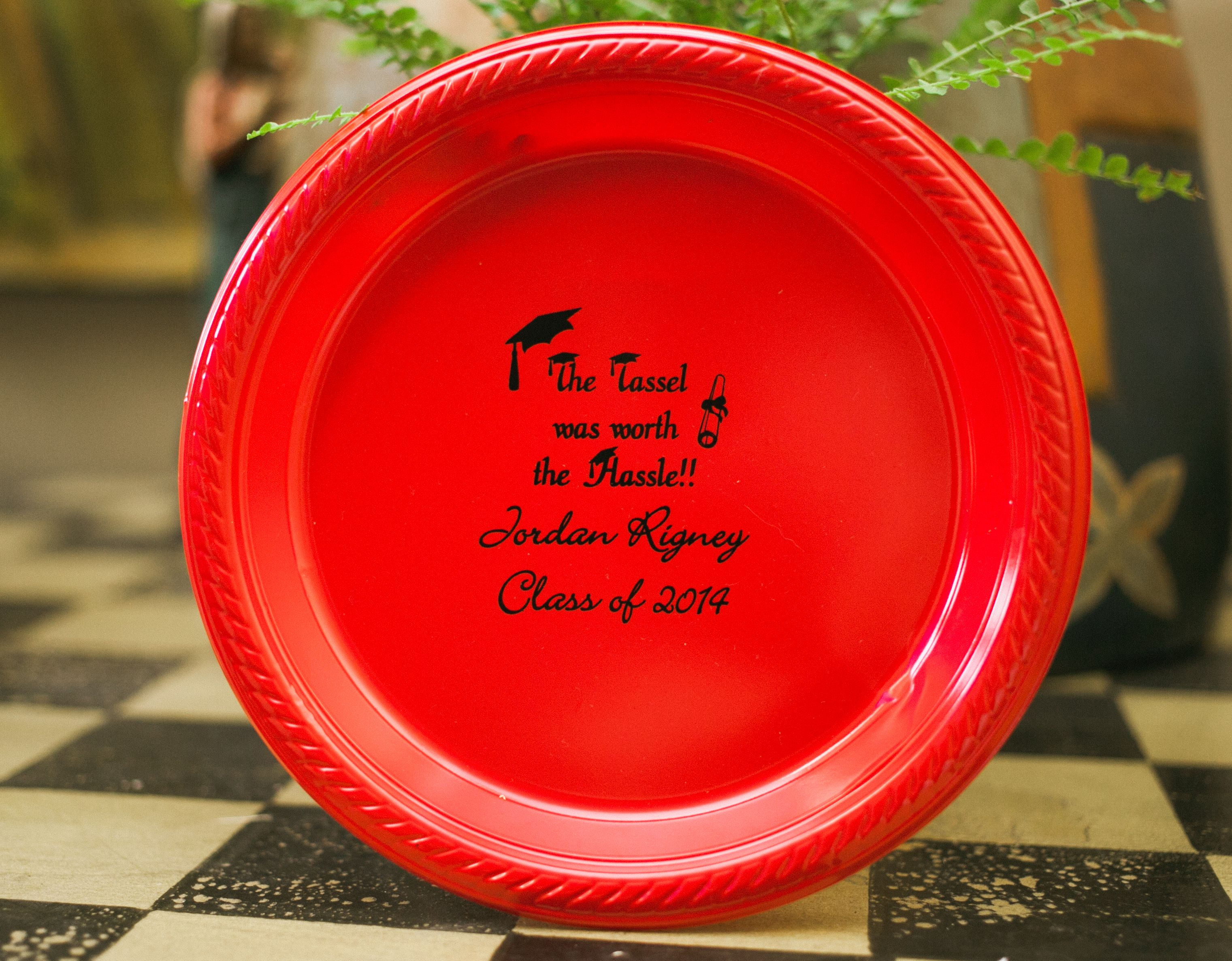 Round Plastic Plates in 2 sizes- 7\  and 10.25\  personalized with custom design  sc 1 st  Pinterest & Round Plastic Plates in 2 sizes- 7\