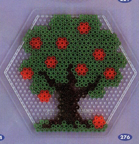 Tree With Apples Hama Beads Design Perler Beads Hama