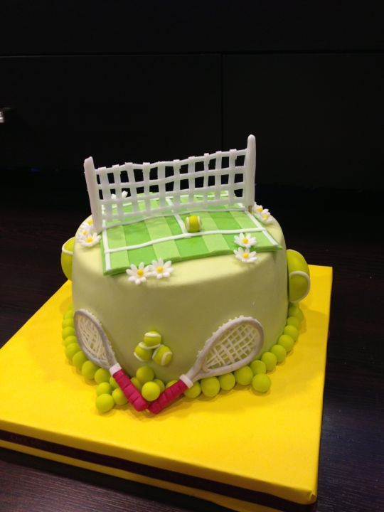 Birthday Cake For A Tennis Player Cake By Cake Lounge Cakesdecor